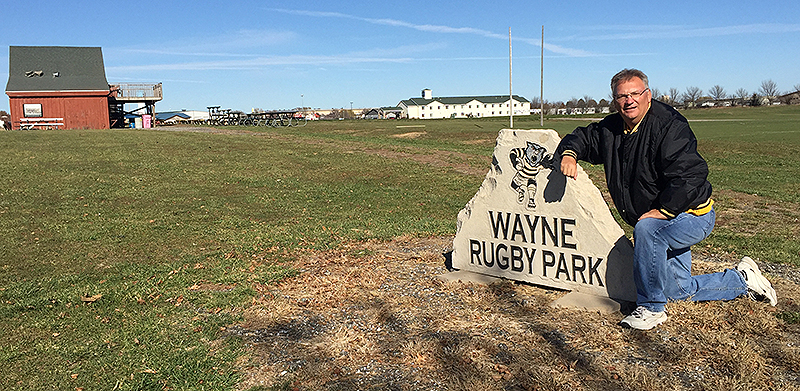 The Wayne Rugby Park hosts one of the biggest tournaments in the country each year and will play host to an NSCRO regional this weekend. Coach Darin Barner has led the club since it was formed 15 years ago. (Photo by Michael Carnes)