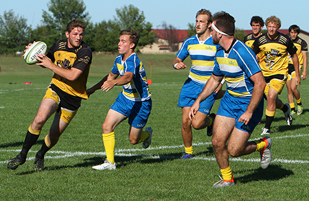 The Wayne State men's rugby team has consistently played at a high level since their formation back in 2002. The 2015 team finished fifth in the nation, and a young team has a chance to advance in the national tournament this weekend as well. (Photo by Michael Carnes)